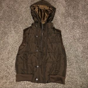 Boys 4-t Kenneth Cole brown vest